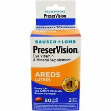 Bausch + Lomb PreserVision Eye Vitamin AREDS Lutein 50 Softgels Each