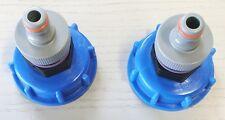 2x AT99  Auslauf IBC-Container-Zubehör-Regenwasser-Tank-Tonne-Garten-Adapter