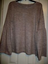 a.n.a. Women's Pullover Long Sleeve Top Rose Quartz Size X-Large Flares At Elbow