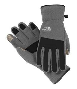 The North Face Etip Denali Gloves Charcoal Grey Heather Men's XL BNWT