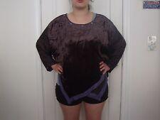 tienda ho top rayon burn out velvet  blouse M L XL 1X 2X OSFM zth27