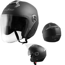 Helmet Scratchproof Sun Visor Motorcycle Scooter Motorbike A-pro Matt Black XS