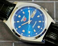 New listing VINTAGE UNUSED SEIKO 5 CAL.7009 AUTOMATIC DAY/DATE JAPAN MEN'S WATCH #5-02628