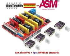 CNC Shield V3 Expansion Board + 4pcs DRV8825 Stepper Motor Driver