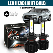 Pair DOT HID H7 400W 32000LM LED Headlight Kit High or Lo Fog Light Bulb 6000K
