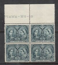 Canada #58 VF/NH Plate #8 Block **With Certificate**