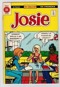 FRENCH COMIC FRANÇAIS EDITION  HERITAGE  JOSIE  # 35  FAMILLE  ARCHIE