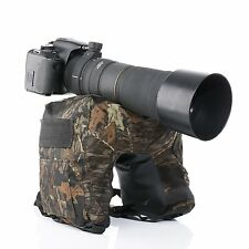 Movo THB03 Camera Lens Beanbag with Gimbal/Ball Head Mount - Deep Woods/Junior