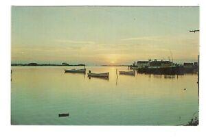 Sunset Ocracoke North Carolina Unused Vintage Postcard AF250