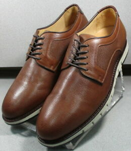 272240 PF50 JOHNSTON & MURPHY MARTELL MEN'S SHOES 11 M TAN EMBOSSED LEATHER