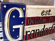 Americana decor PERSONALIZED stacking block sign NAME