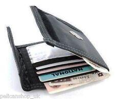 MEN'S BOYS QUALITY FOLDING BLACK WALLETS SOFT LEATHER FAUX COINS ZIP CARD HOLDER