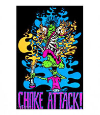 CHOKE ATTACK - WEED BLACKLIGHT POSTER - 24X36 MARIJUANA POT BONG 2283