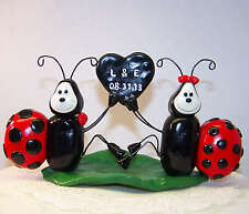 Custom Lady Bug Cake Topper Wedding Home Decor