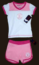 BOSTON RED SOX PINK 2 Piece Short SET Size 4 NWT SUPER CUTE!