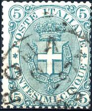 ITALIA - Regno - 1891/96 - Stemma o effigie di Umberto I° - 5 c.