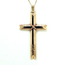 Schlichtes Kreuz Weißgold 585 Anhänger mit Korpus Weißgoldanhänger Gold 14kt