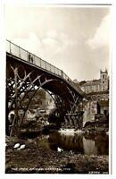 Antique RPPC real photograph postcard The Iron Bridge Erected 1779