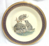 Lenox Plate w 1973 Three Raccoons Woodland Wildlife Annual Limit Edition