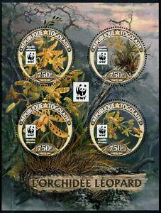 TOGO - 2016 WWF 'LEOPARD ORCHID' Miniature Sheet MNH [B4253]