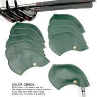 Golf club head cover custom initial Wedge Iron Genuine  Green  Fit All Brands