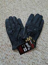 Men's Driving Black leather Gloves  Size Medium