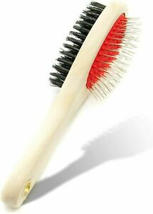 2 in 1 Wooden Dog Brush Cat Puppy DOUBLE SIDED Dog Grooming Kit Pet hair Remover