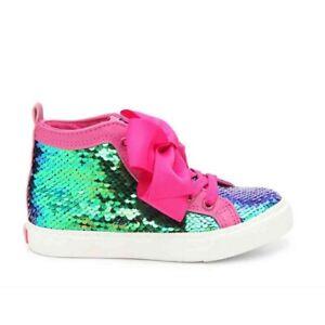 JoJo Siwa Flip Sequin Mermaid High Top Bow Sneaker Shoes Size Youth 3 NWT