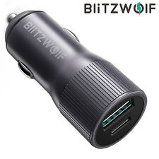 BlitzWolf BW-SD4 36W 2 Ports USB Type C Fast Quick Charge Car Charger Adapter