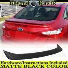 2012 2013 2014 2015 Ford Focus 4Dr MATTE BLACK OEM Factory Style Spoiler Wing