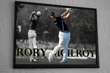 Rory Mcilroy  Framed Canvas Portrait Signed