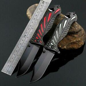 "Drop Point Folding Knife Pocket Hunting Survival Tactical Combat Carbon Steel 3"""