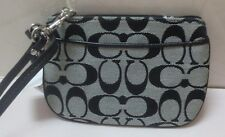 COACH Signature Small Wristlet F45659 SV/BLACK WHITE/BLACK New with Tags NWT