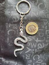 3D Large Snake Key Chain TIBETAN SILVER