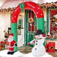 Inflatable Christmas Arch Santa Snowman With LED Lights Christmas Garden Decor