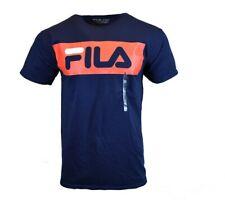 FILA MENS T SHIRT S M L XL 2XL LOGO SPORTS ATHLETIC APPAREL BLUE RED TEE NEW