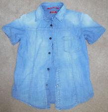 Boy RARE italian designer brand cool denim shirt size 10-11 y 100% cotton