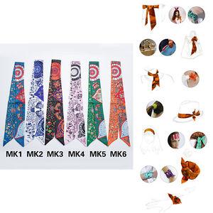 AMIGO Multi-Use Silk Scarf Twilly Wrist Head Band Bag Ribbon Bow Tie Wrap JJMK