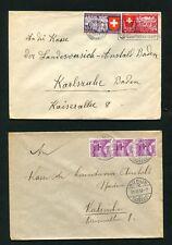Schweiz -  10 Belege von 1938 - 1939, Lot 3   (SB-1)