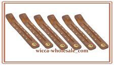 "Wholesale Set of 6 Ying Yang Wooden Incense Burners Ashcatchers 10"" Long"