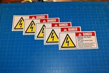 """Electrical Safety Sign: Electric Arc Flash Danger Signage 2.5"""" X 5.25"""" New Qty:5"""