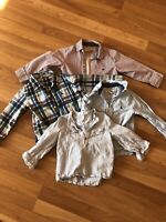 H&M Logg Toddler Boys Size 2-3Y Lot Of 4  Long Sleeve Cotton Button