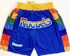 Men's Denver Nuggets Shorts Blue All Stitched