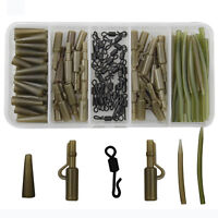 120pcs Carp Fishing Tackle Kit Safety Lead Clips Quick Swivel Anti-Tangle Sleeve