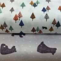 Lewis and Irene Bear Hug Collection 100% Cotton fabric by the half metre