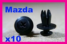 10 Mazda door card fascia trim panel lining mud splash guard fastener clips