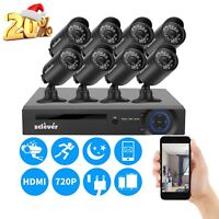 8CH 1080N CCTV HDMI DVR 1500TVL Outdoor 720P Security Camera System 8 Cameras