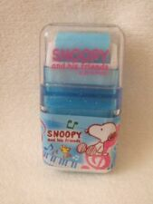 Kamio Japan  Snoopy  eraser with plastic case blue