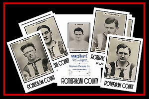 ROTHERHAM COUNTY (now UNITED) - RETRO 1920's STYLE - NEW COLLECTORS POSTCARD SET