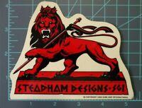 """Steve Steadham Design S.G.I.- Rare - Red  """"Lion"""",Powell Peralta, 1986, vntg"""